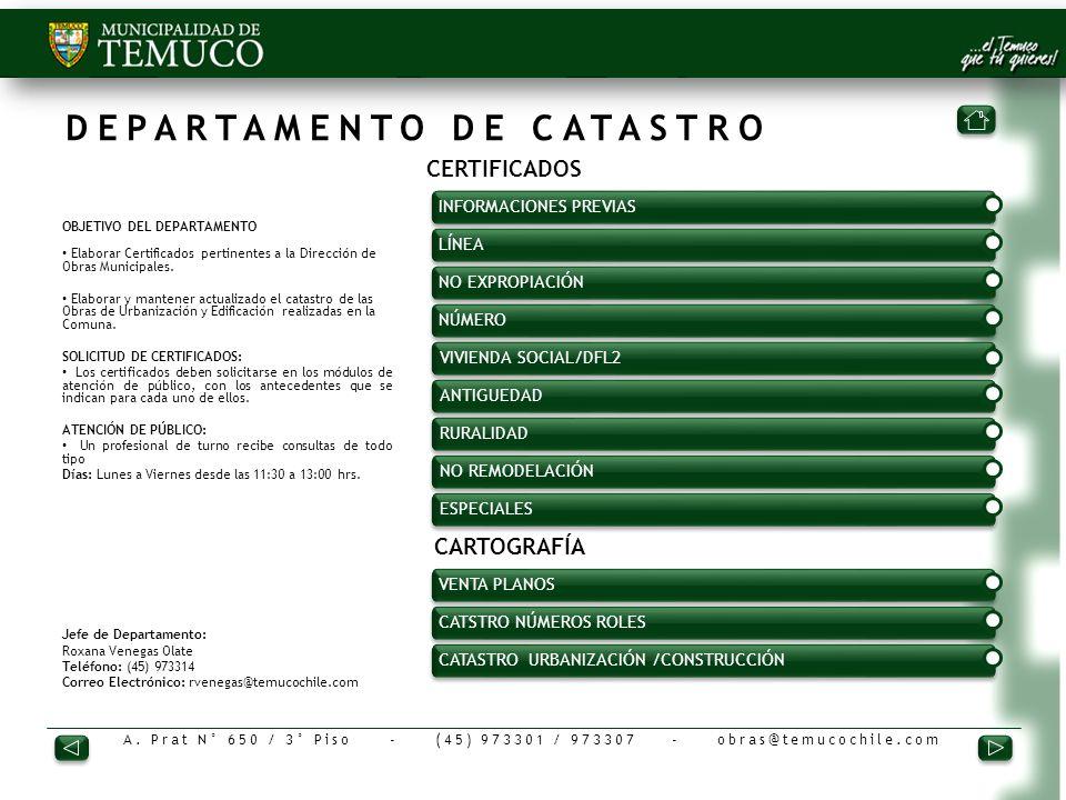 DEPARTAMENTO DE CATASTRO