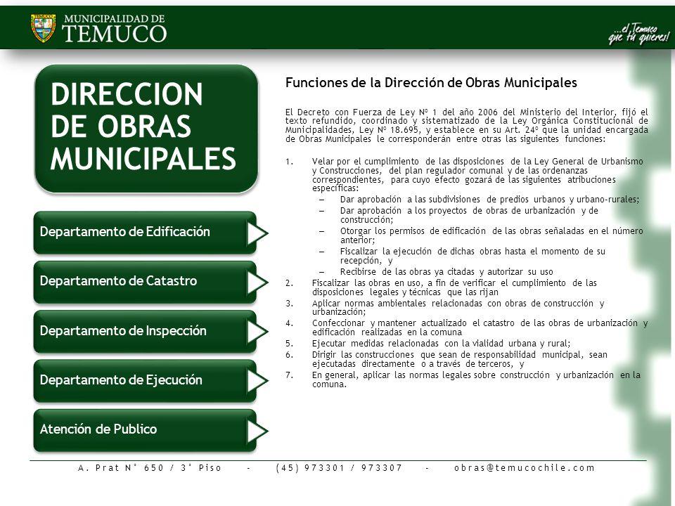 DIRECCION DE OBRAS MUNICIPALES