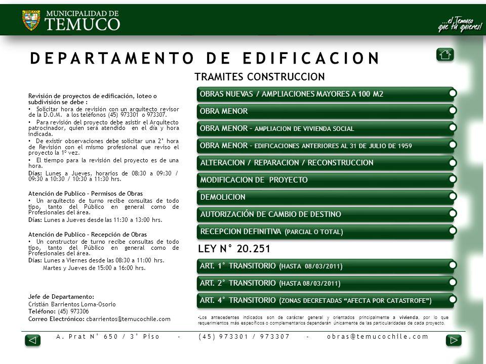 DEPARTAMENTO DE EDIFICACION