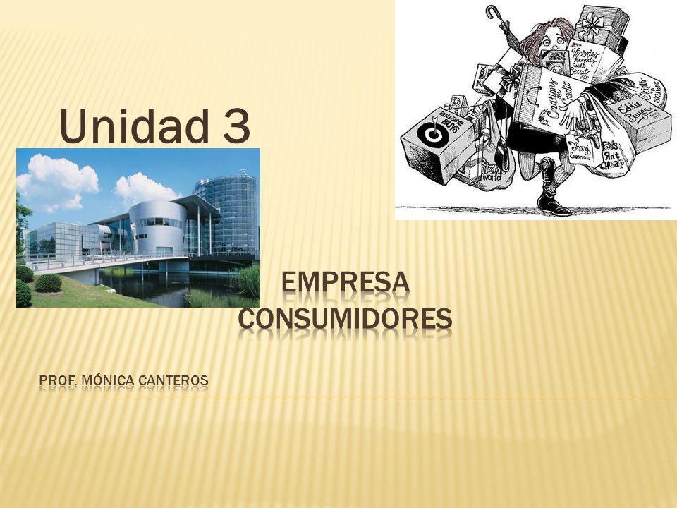 Empresa consumidores Prof. Mónica Canteros