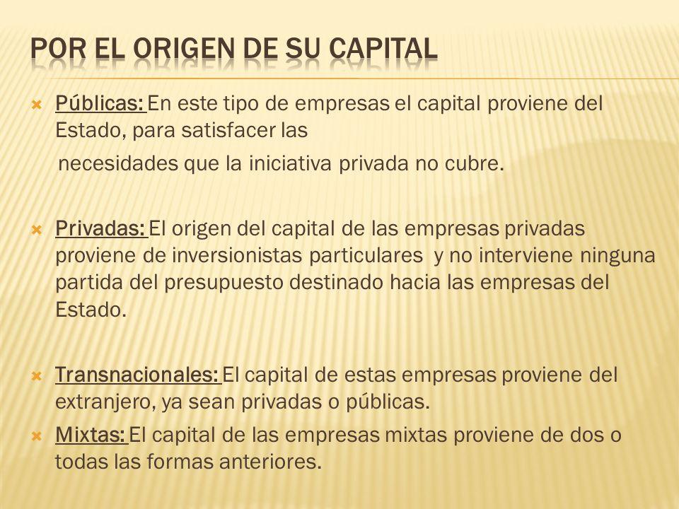 Por el origen de su capital