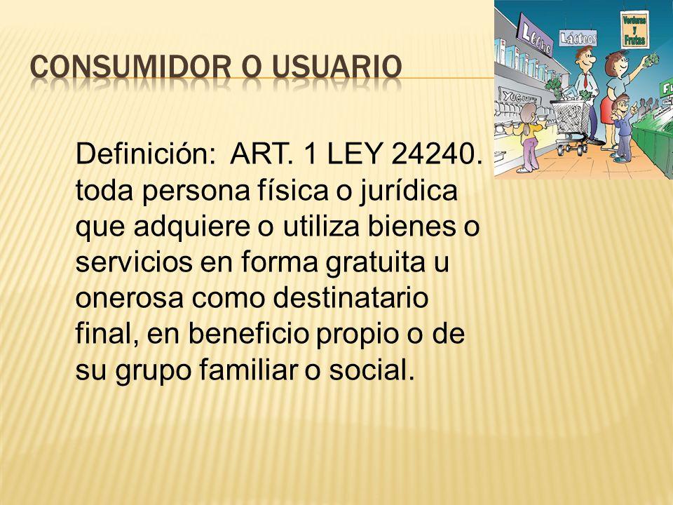 Consumidor o usuario