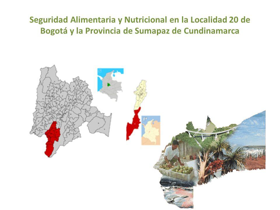 Seguridad Alimentaria y Nutricional en la Localidad 20 de Bogotá y la Provincia de Sumapaz de Cundinamarca