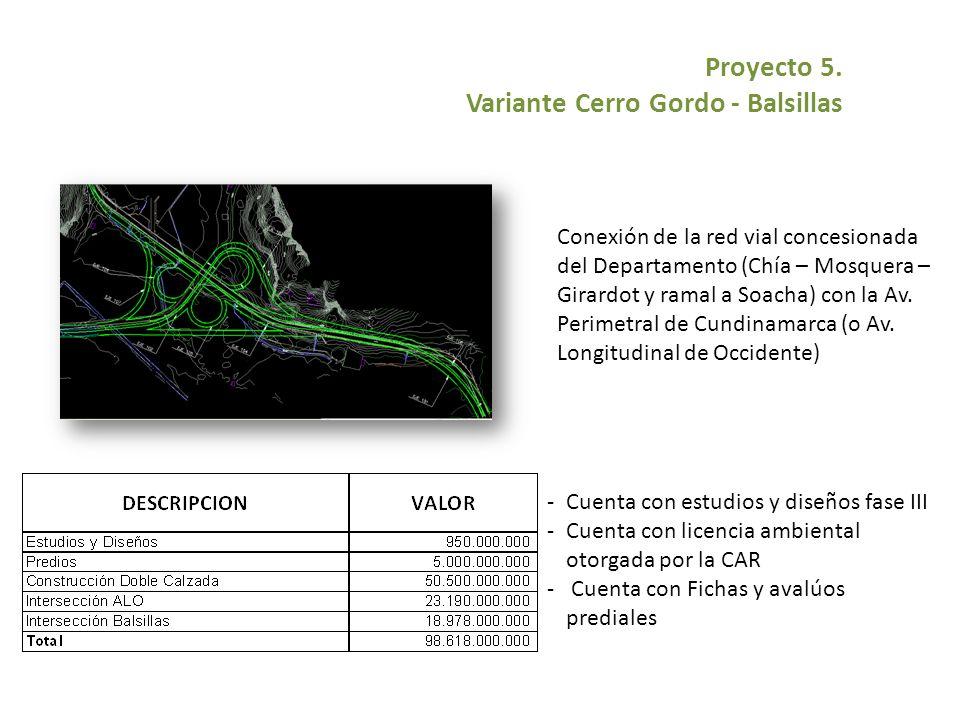 Proyecto 5. Variante Cerro Gordo - Balsillas