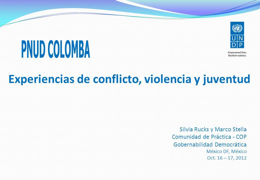 Experiencias de conflicto, violencia y juventud