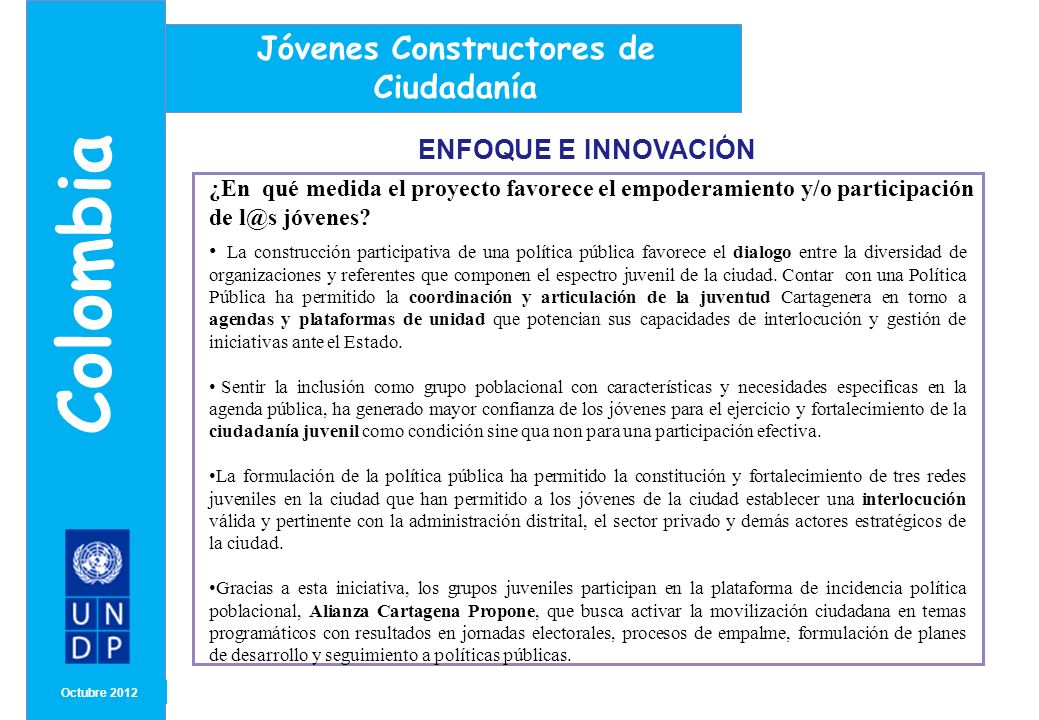 Colombia Jóvenes Constructores de Ciudadanía