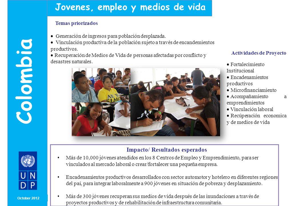 Colombia Jovenes, empleo y medios de vida