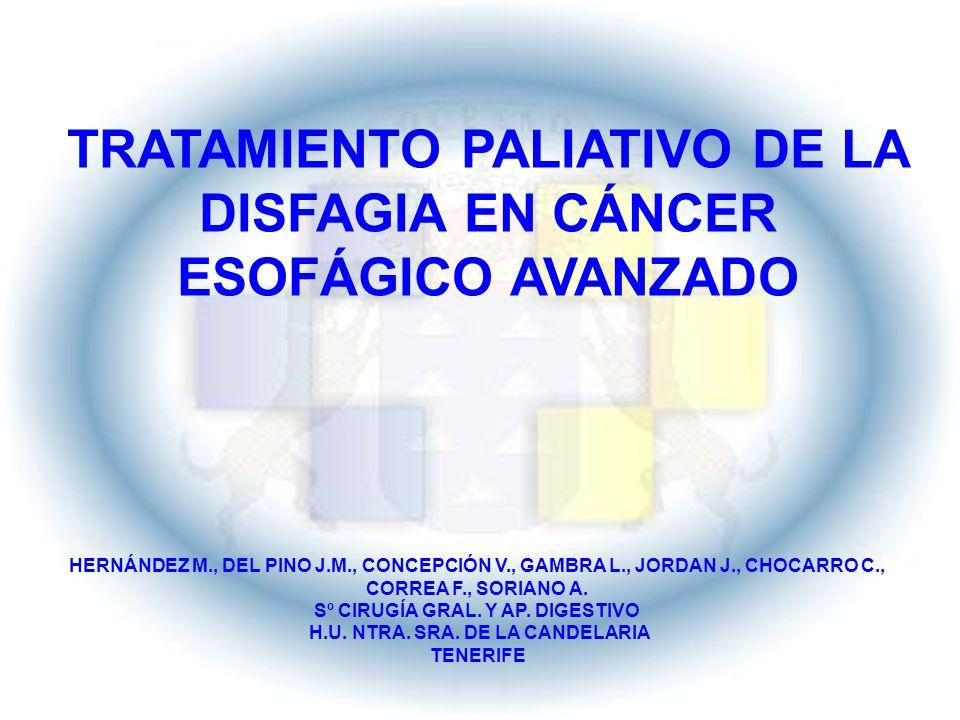 TRATAMIENTO PALIATIVO DE LA DISFAGIA EN CÁNCER ESOFÁGICO AVANZADO