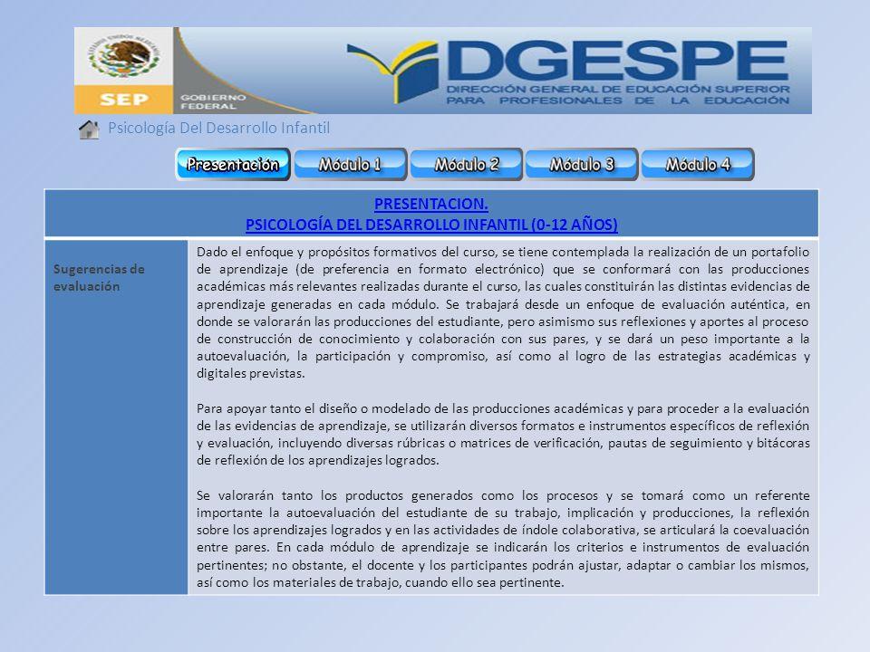 PSICOLOGÍA DEL DESARROLLO INFANTIL (0-12 AÑOS)