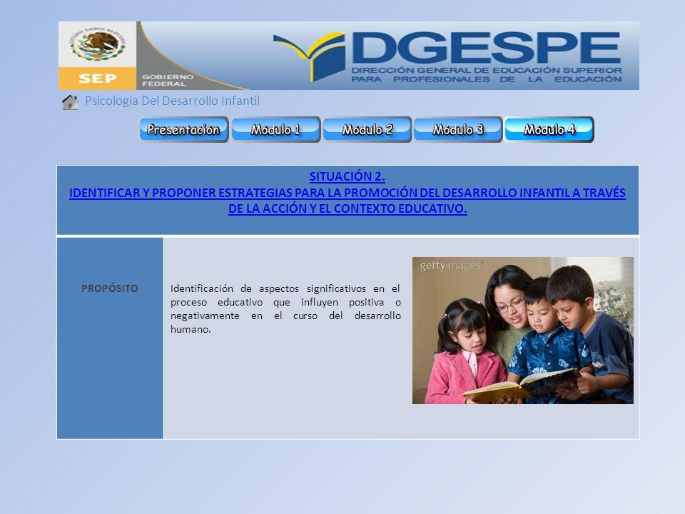 Psicología Del Desarrollo Infantil SITUACIÓN 2.