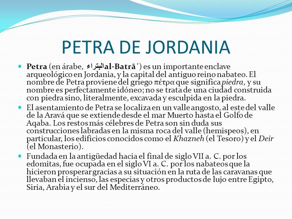 PETRA DE JORDANIA