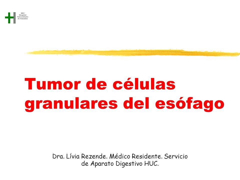 Tumor de células granulares del esófago