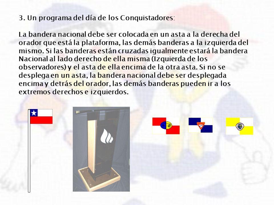 3. Un programa del día de los Conquistadores: