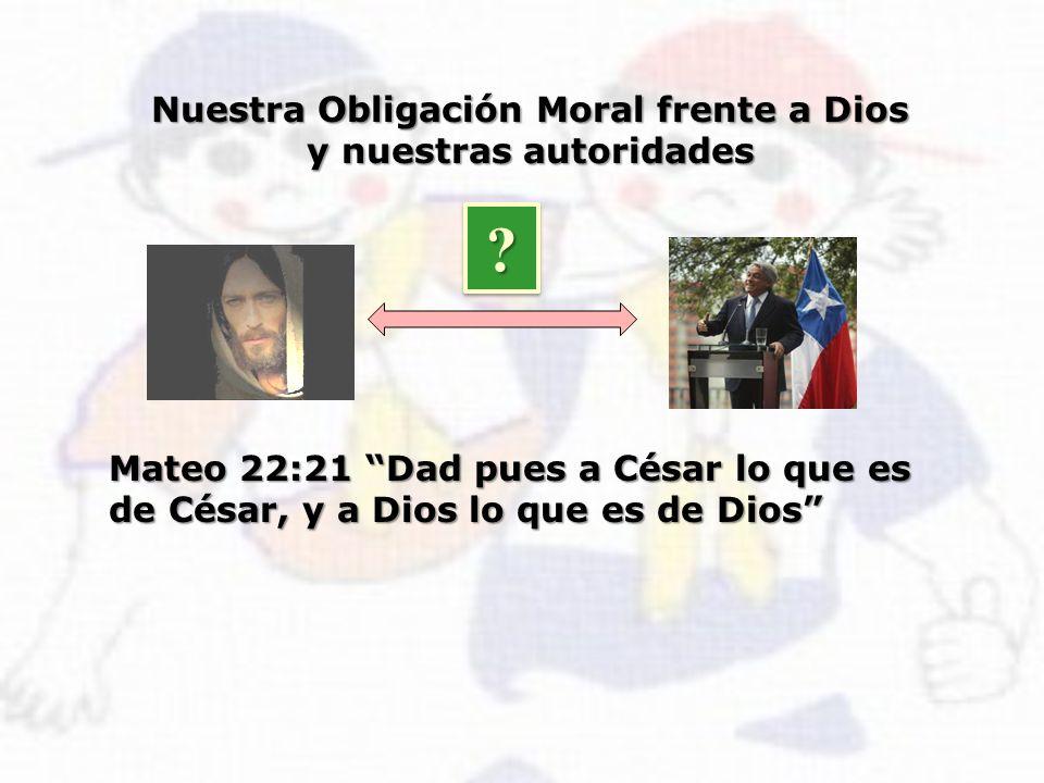 Nuestra Obligación Moral frente a Dios y nuestras autoridades