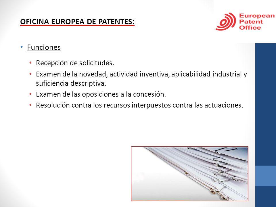 OFICINA EUROPEA DE PATENTES: Funciones