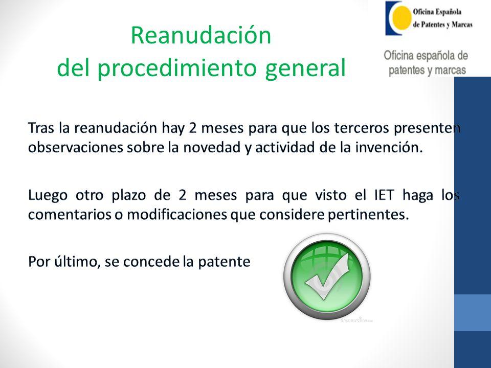 del procedimiento general
