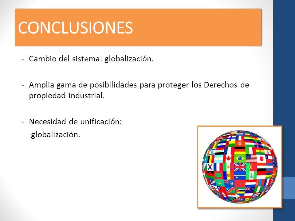 CONCLUSIONES Cambio del sistema: globalización.