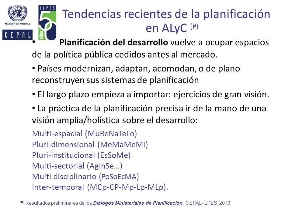Tendencias recientes de la planificación en ALyC (#)
