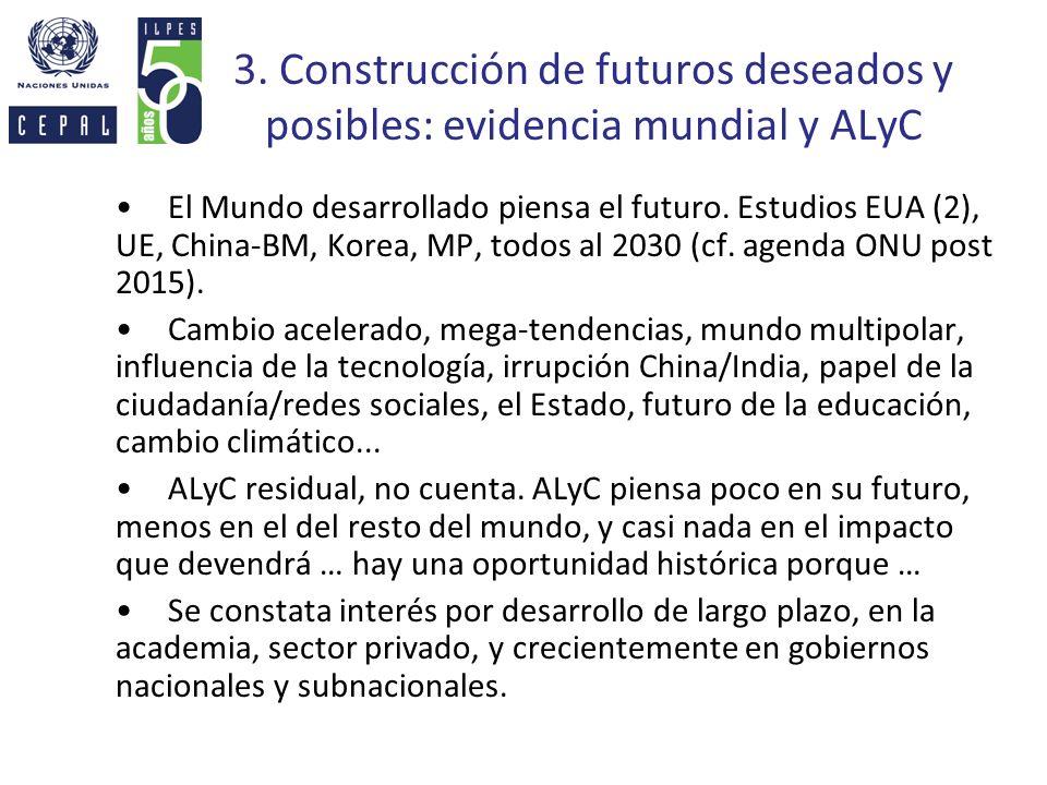 3. Construcción de futuros deseados y posibles: evidencia mundial y ALyC