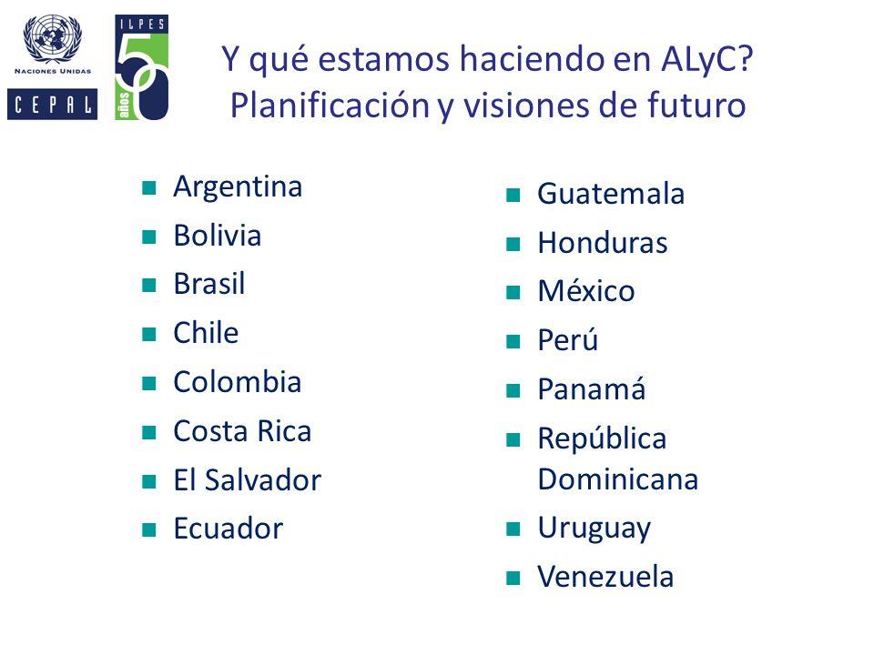 Y qué estamos haciendo en ALyC Planificación y visiones de futuro