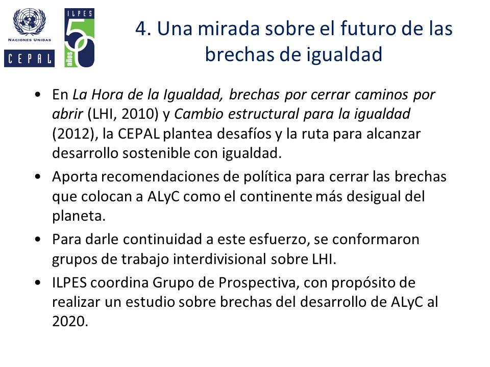 4. Una mirada sobre el futuro de las brechas de igualdad