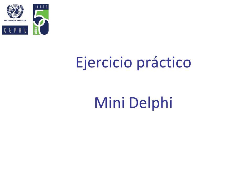 Ejercicio práctico Mini Delphi