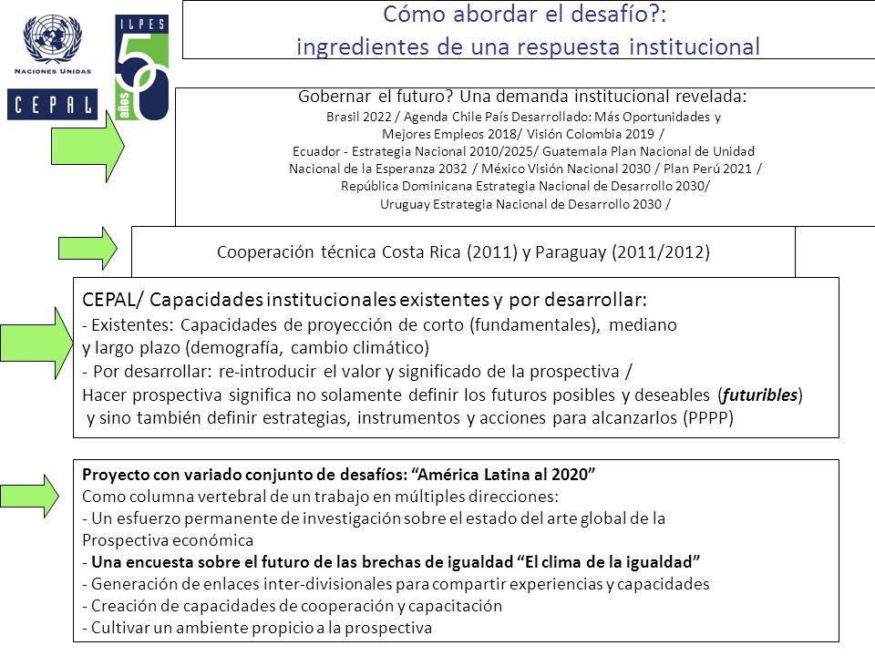 Cómo abordar el desafío : ingredientes de una respuesta institucional