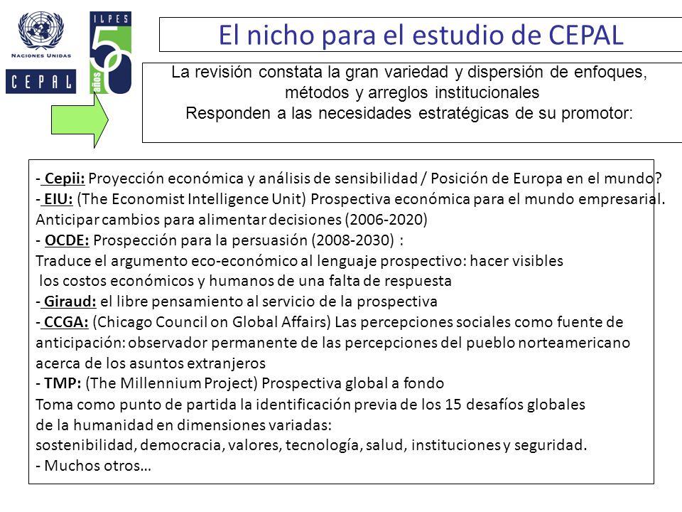 El nicho para el estudio de CEPAL