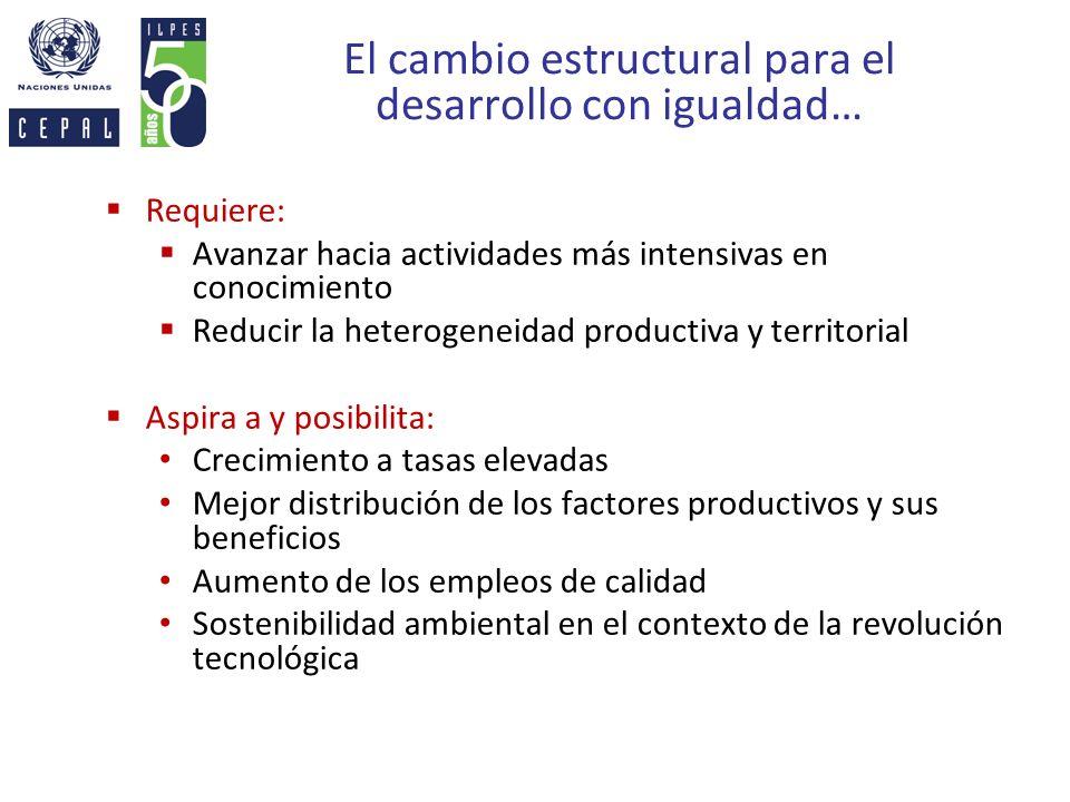 El cambio estructural para el desarrollo con igualdad…