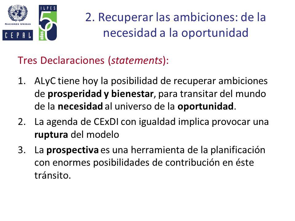 2. Recuperar las ambiciones: de la necesidad a la oportunidad
