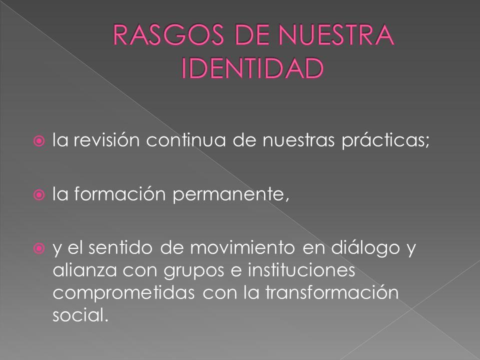 RASGOS DE NUESTRA IDENTIDAD