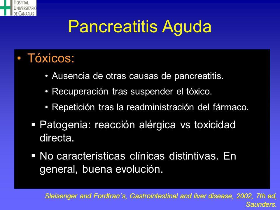 Pancreatitis Aguda Tóxicos: