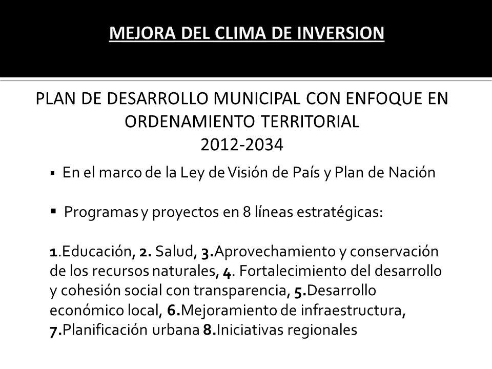 MEJORA DEL CLIMA DE INVERSION