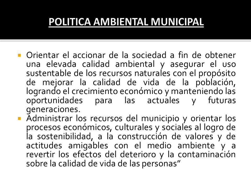 POLITICA AMBIENTAL MUNICIPAL