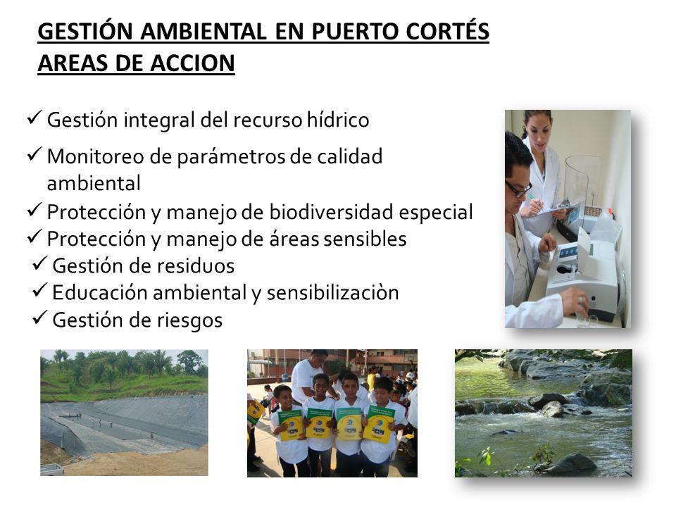 GESTIÓN AMBIENTAL EN PUERTO CORTÉS AREAS DE ACCION