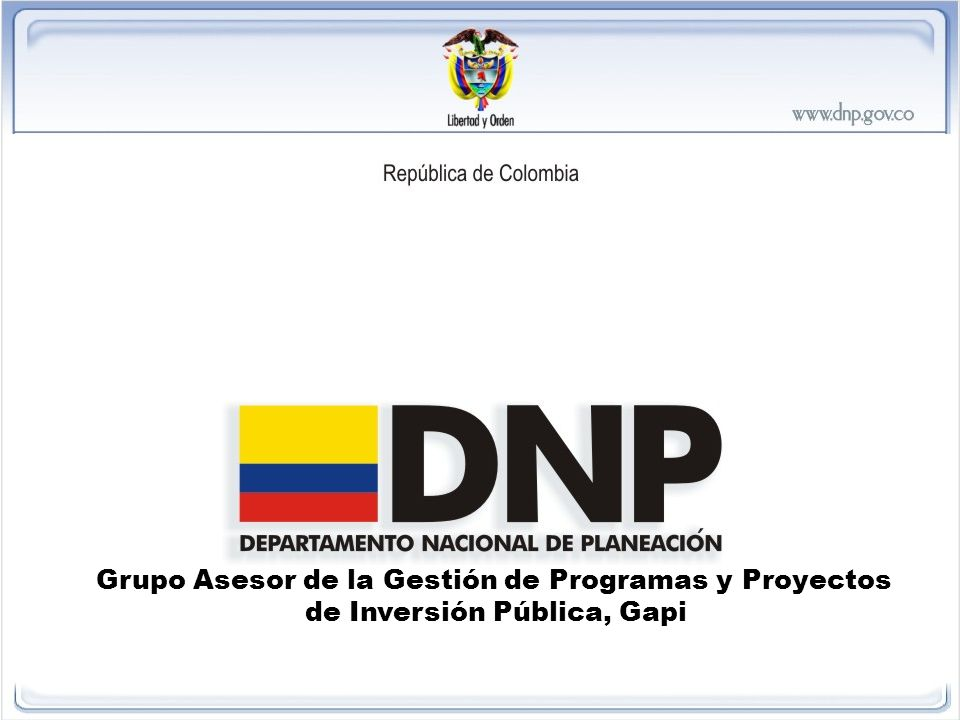 Grupo Asesor de la Gestión de Programas y Proyectos