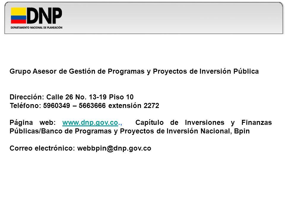 Grupo Asesor de Gestión de Programas y Proyectos de Inversión Pública