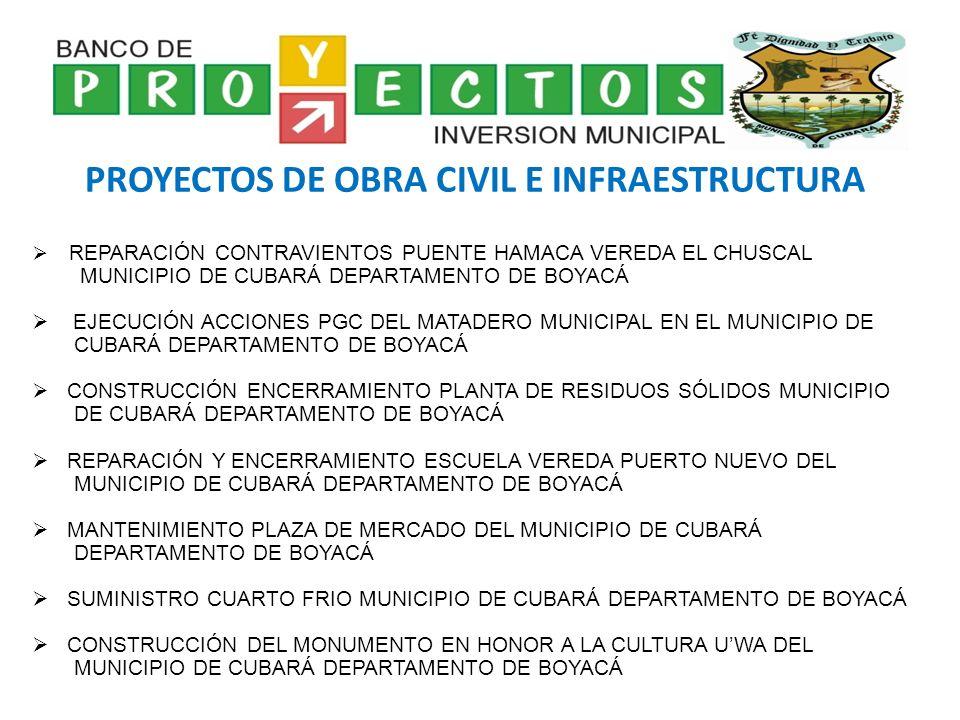 PROYECTOS DE OBRA CIVIL E INFRAESTRUCTURA