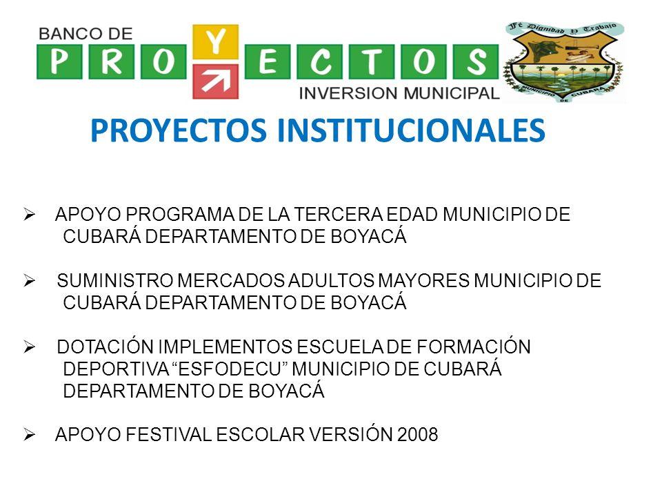 PROYECTOS INSTITUCIONALES
