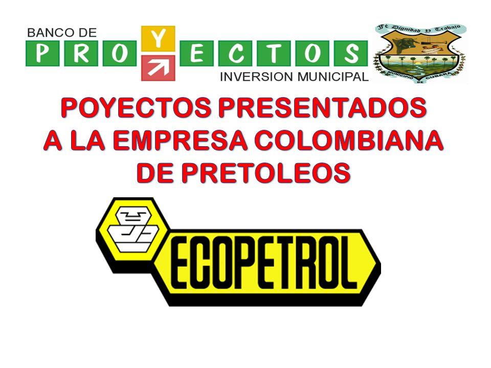 A LA EMPRESA COLOMBIANA DE PRETOLEOS