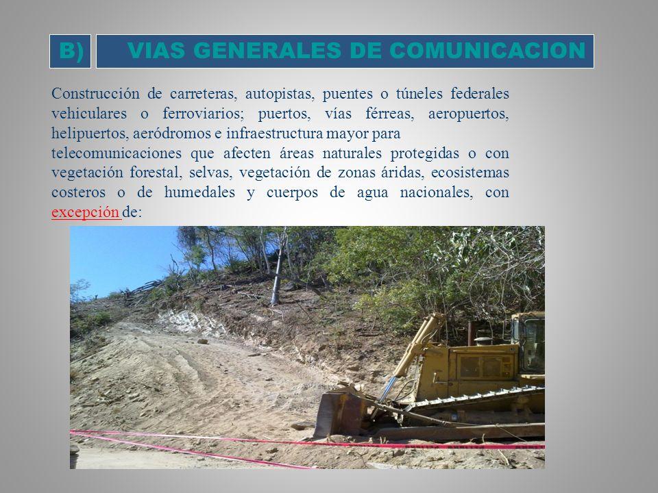 VIAS GENERALES DE COMUNICACION