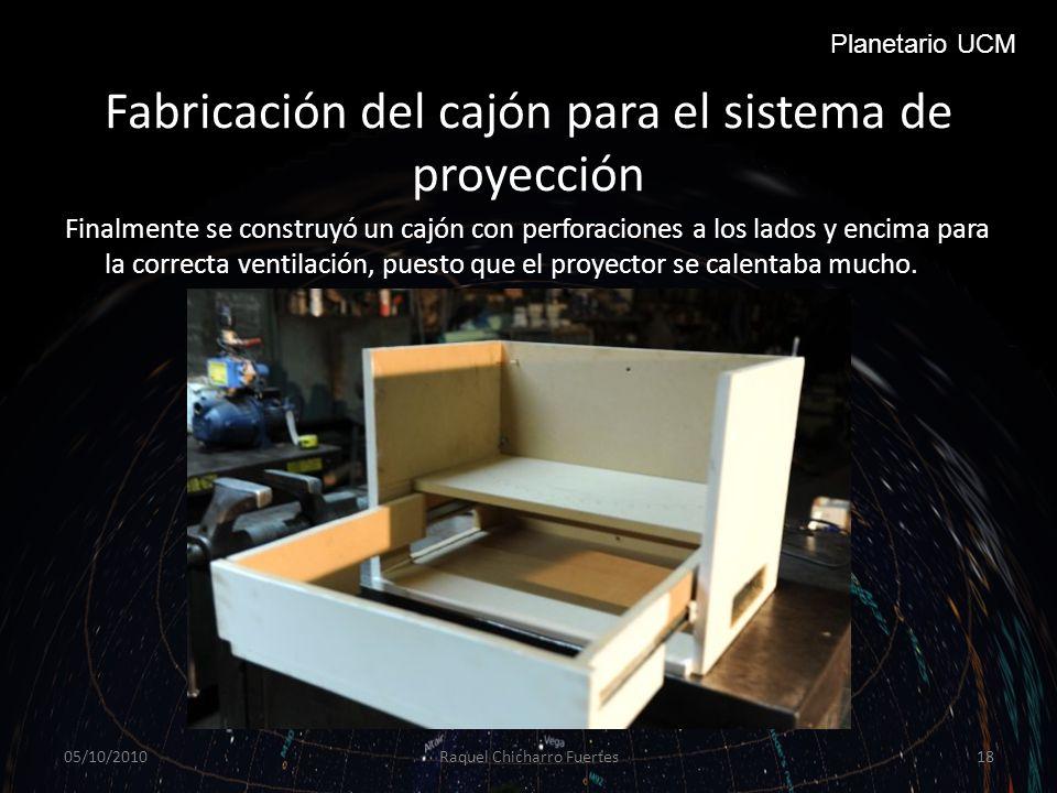 Fabricación del cajón para el sistema de proyección