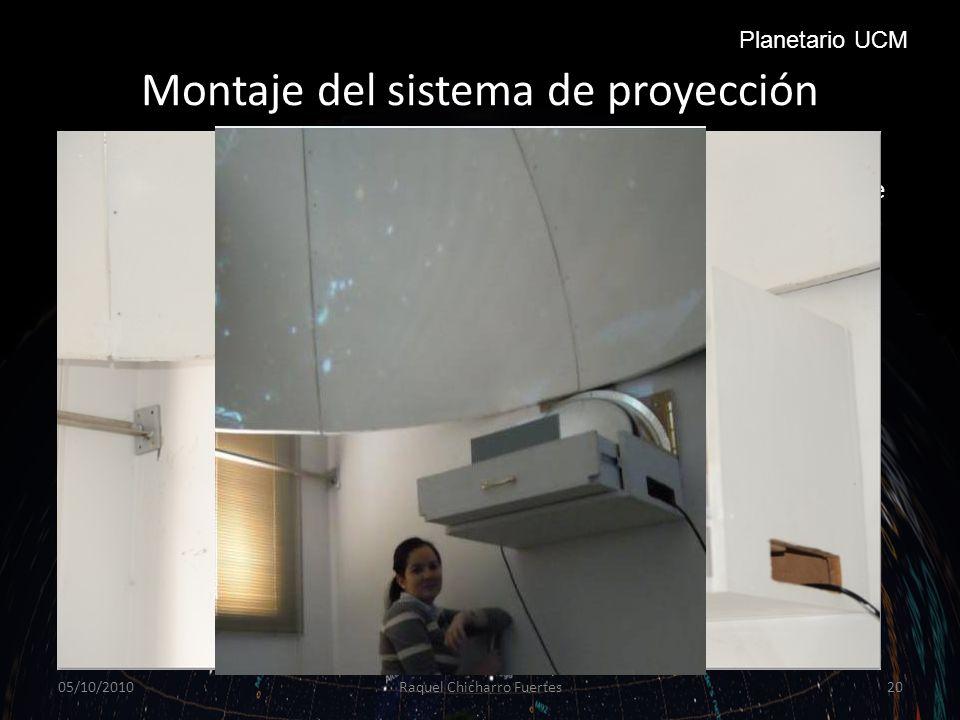 Montaje del sistema de proyección