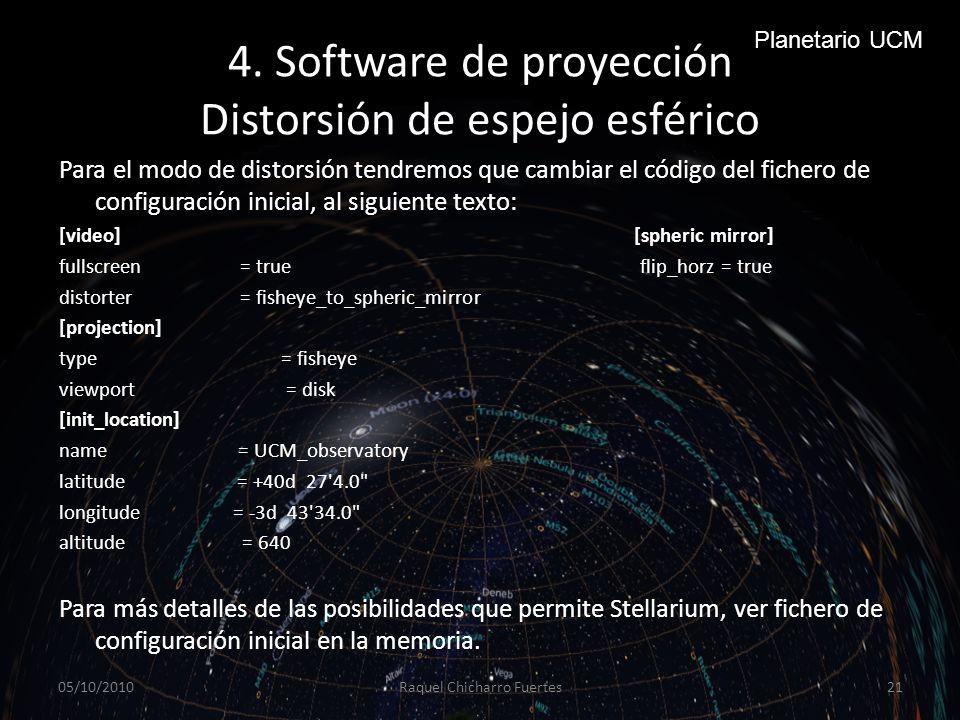 4. Software de proyección Distorsión de espejo esférico