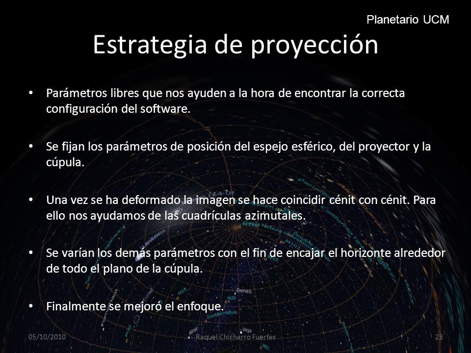 Estrategia de proyección
