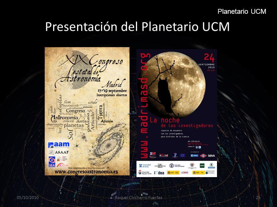 Presentación del Planetario UCM