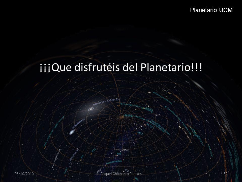 ¡¡¡Que disfrutéis del Planetario!!!