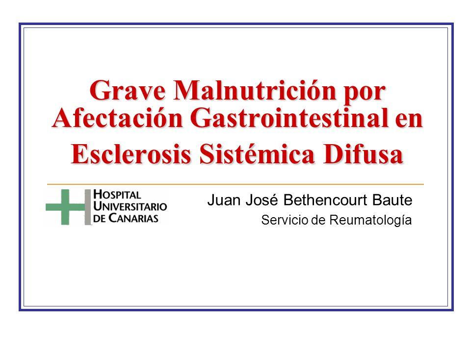 Juan José Bethencourt Baute Servicio de Reumatología