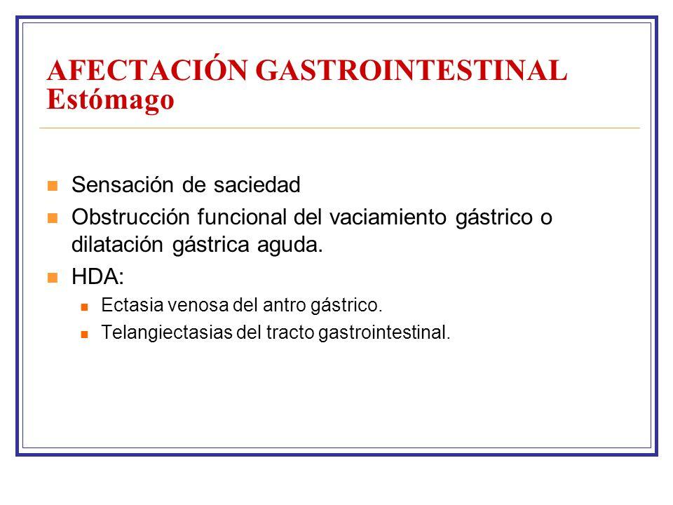 AFECTACIÓN GASTROINTESTINAL Estómago