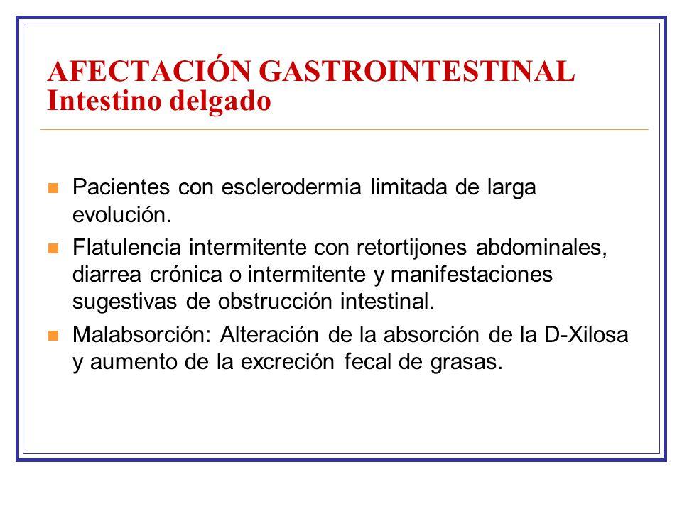AFECTACIÓN GASTROINTESTINAL Intestino delgado